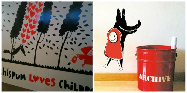 chispum wallstickers at kleine fabriek