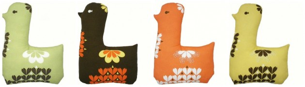 clare nicolson lotta bird cushion