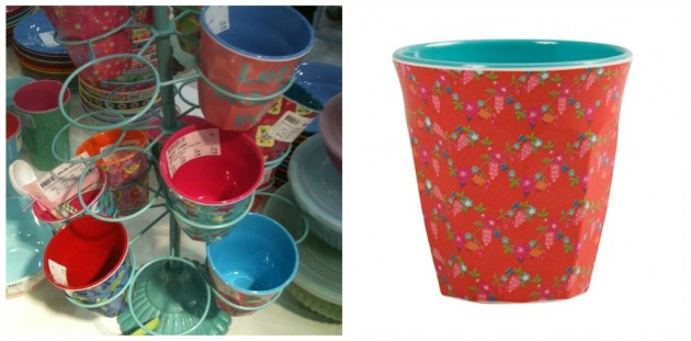 rice cup holder and melamine cups