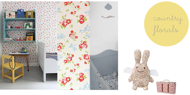 floral-wallpaper-bedding-for-a-girls-room