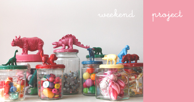 Playroom storage jars