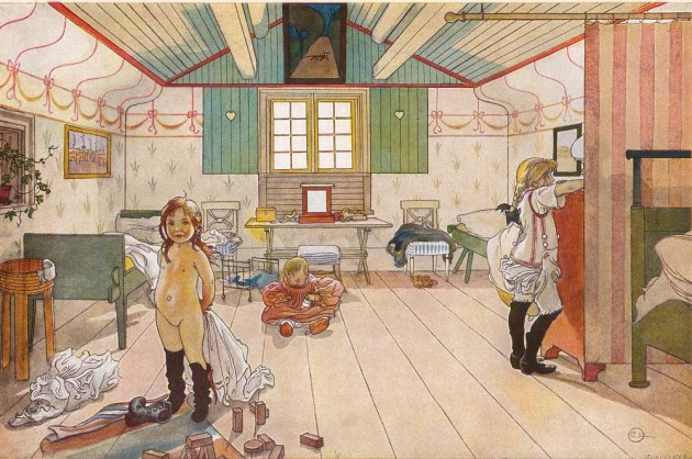 mammas and the little girls room carl larsson