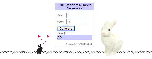 heico bunny lamp giveaway winner