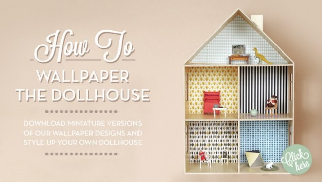 dollhouse ferm living kids wallpaper