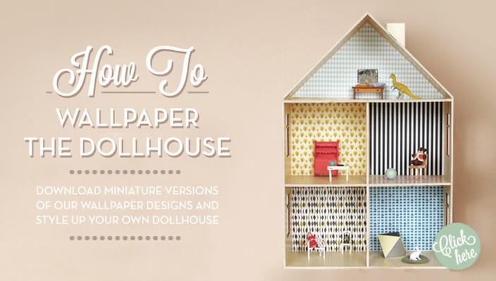 Ferm Living Dolls House Wallpaper Room To Bloom