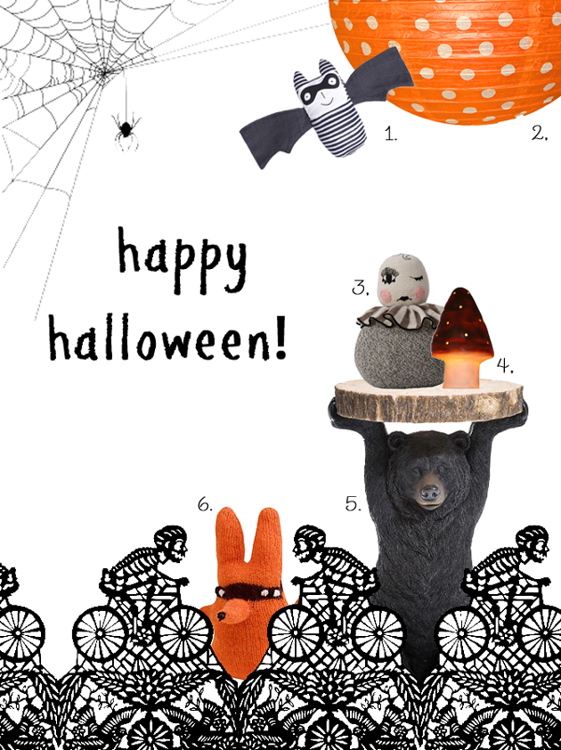 happy halloween children's interiors