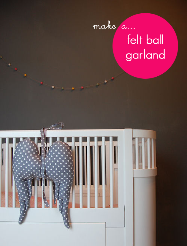 felt garland nursery decoration
