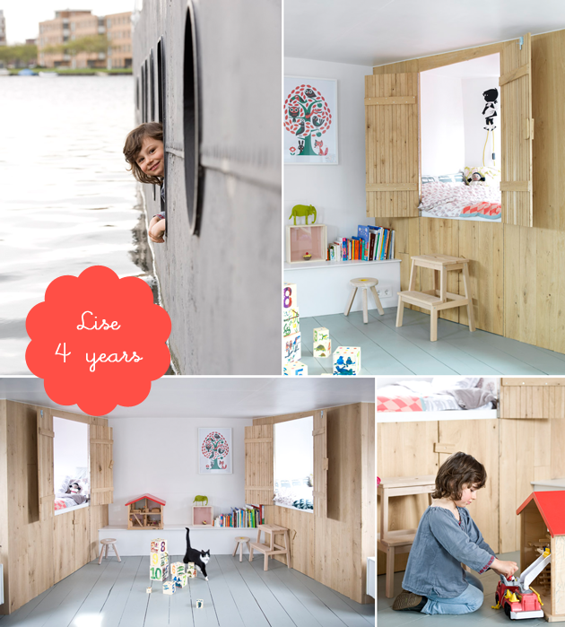 girl's bedroom on a houseboat