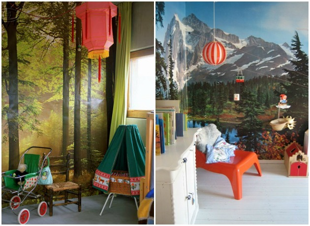 nature wallpaper mural kids room