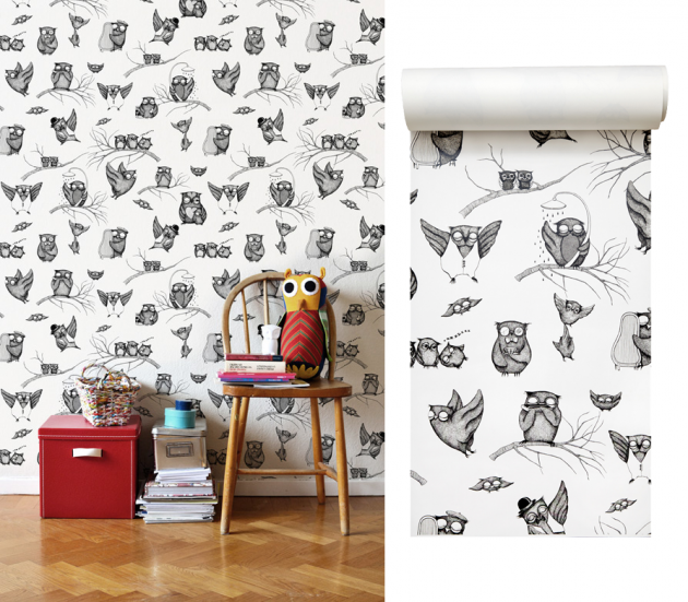 owl wallpaper by mini empire via photowall