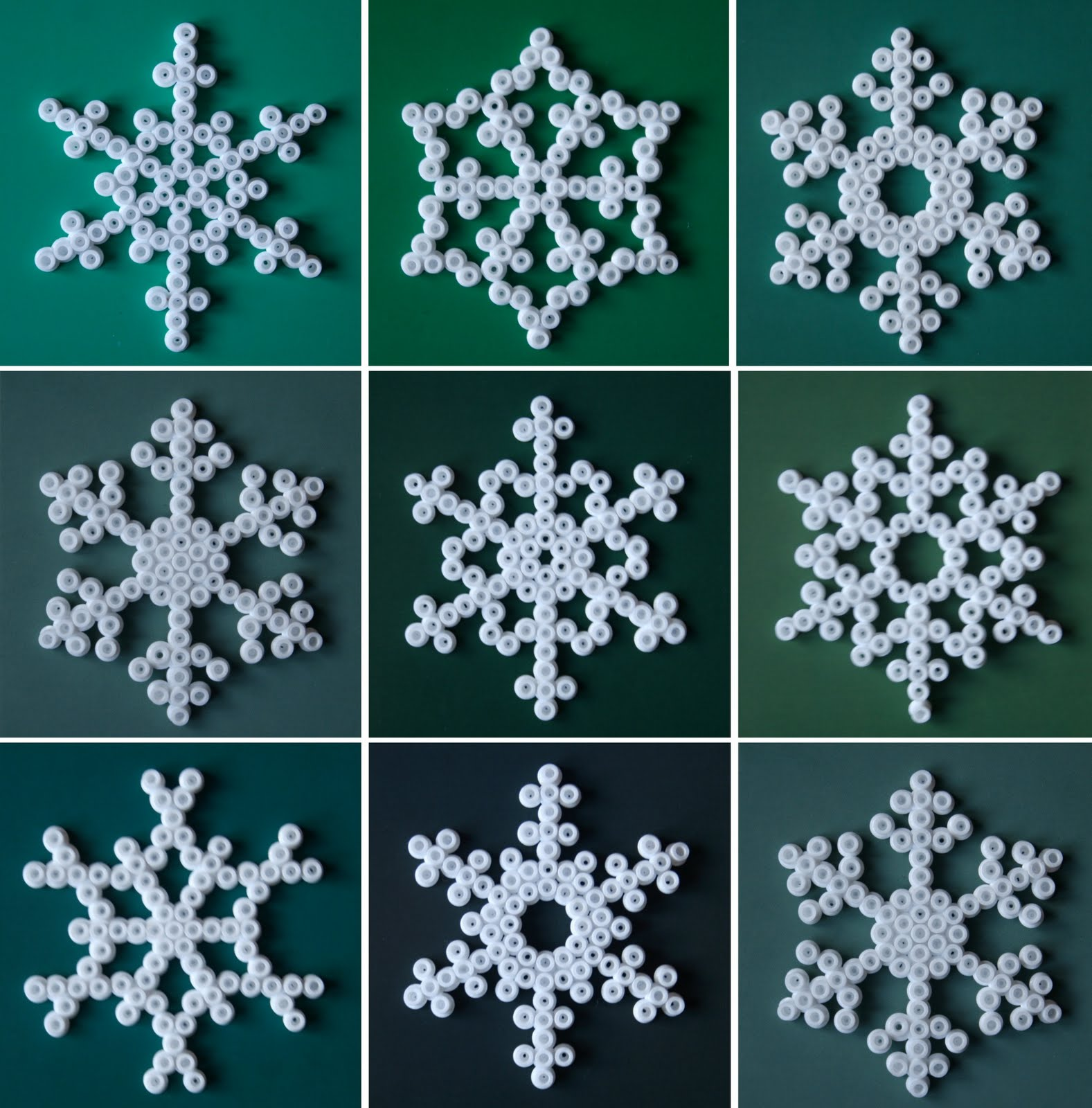 Christmas Hama Bead Designs.Snowflake Christmas Decorations Room To Bloom