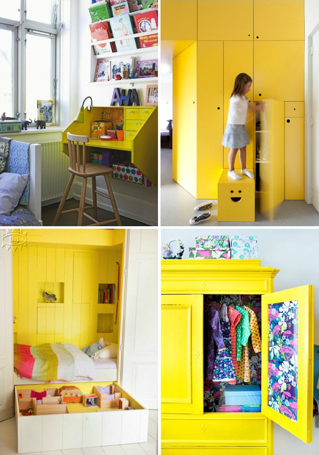 childrens room play room storage yellow room