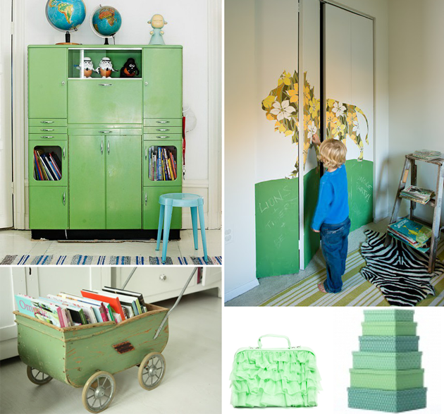ideas for kids bedroom play room storage green room