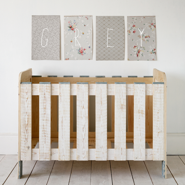 xo-in my room candy circus cot in grey