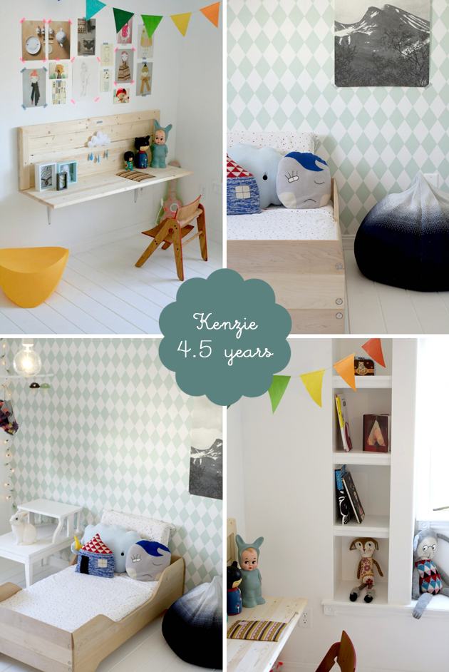 scandinavian girls bedroom: kenzie | Room to Bloom