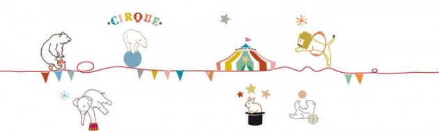 mimi lou kids wall sticker wall border circus