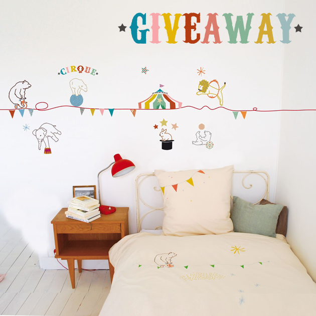 mimi'lou circus wall sticker giveaway