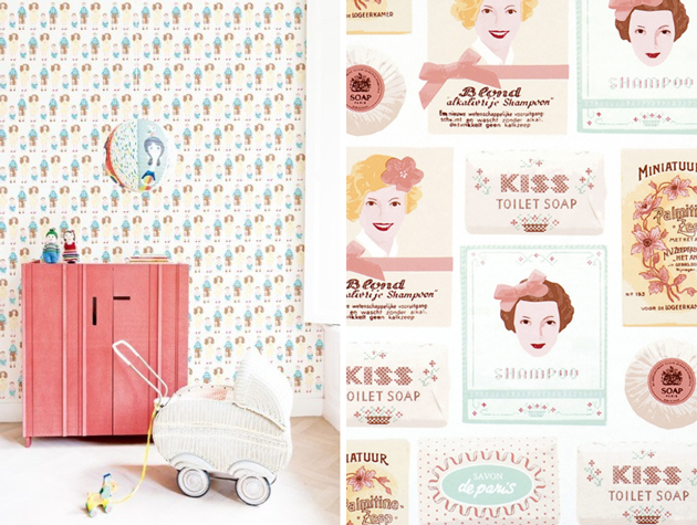 studio ditte kids wallpaper dollshouse family my sweet soap