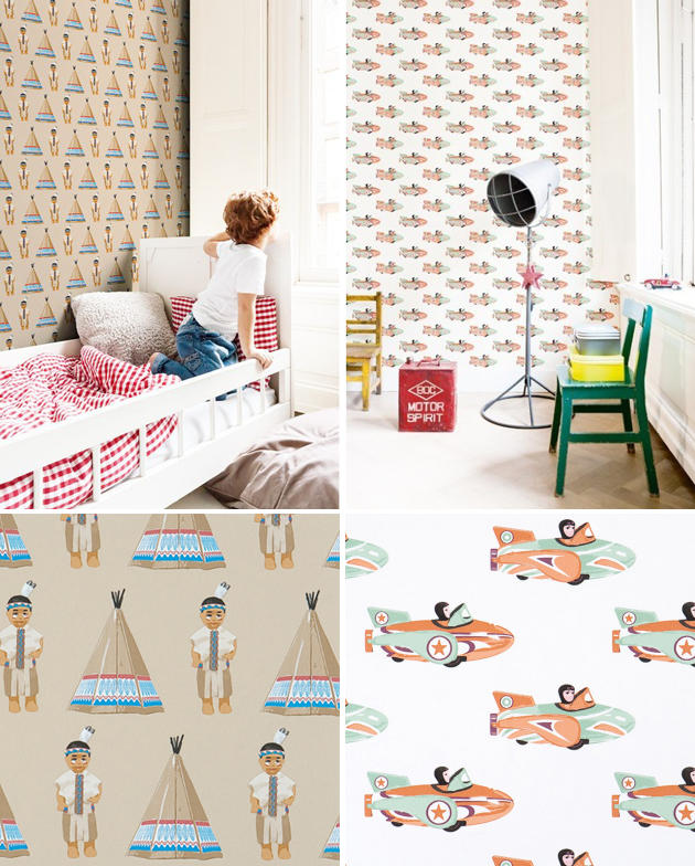 studio ditte kids wallpaper tipi space racer
