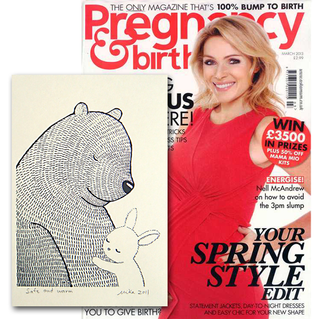 nursery art prints pregnancy & birth magazine march 2013