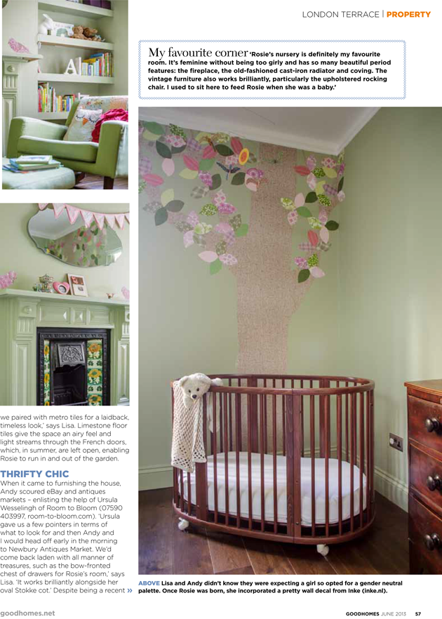 Rosie's Green Nursery in GoodHomes June 2013