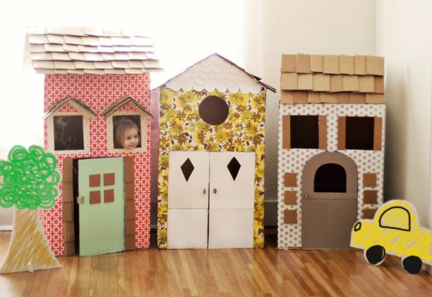 diy playhouses with vintage wallaper