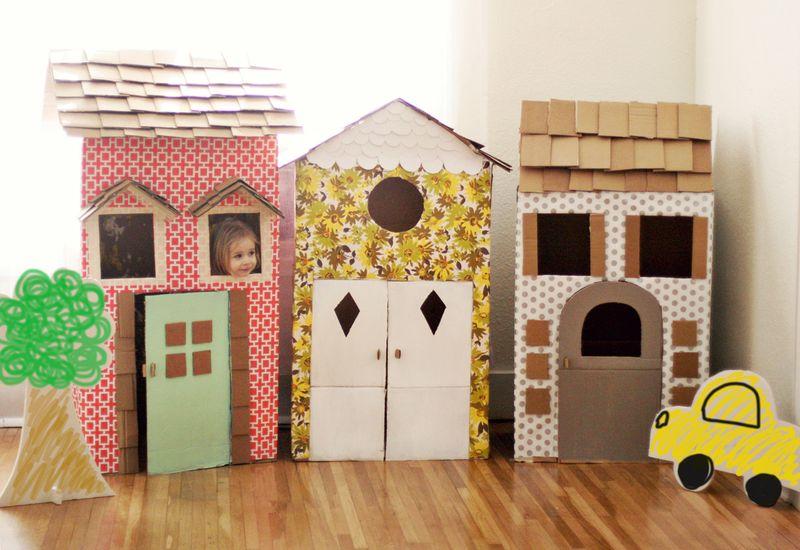 Playroom Diy Cardboard Playhouses Room To Bloom
