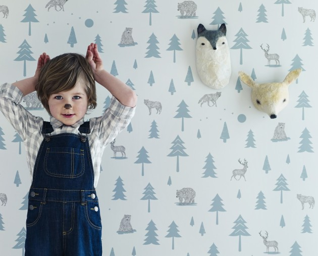 hibou home into the wild kids wallpaper
