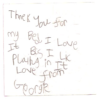 Georgie thank you note