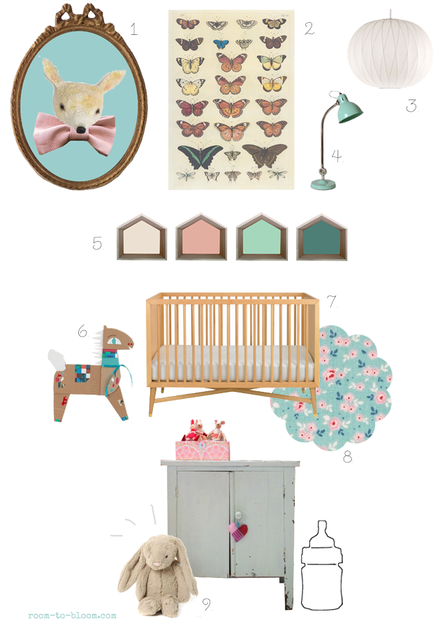 vintage nursery decor inspiration