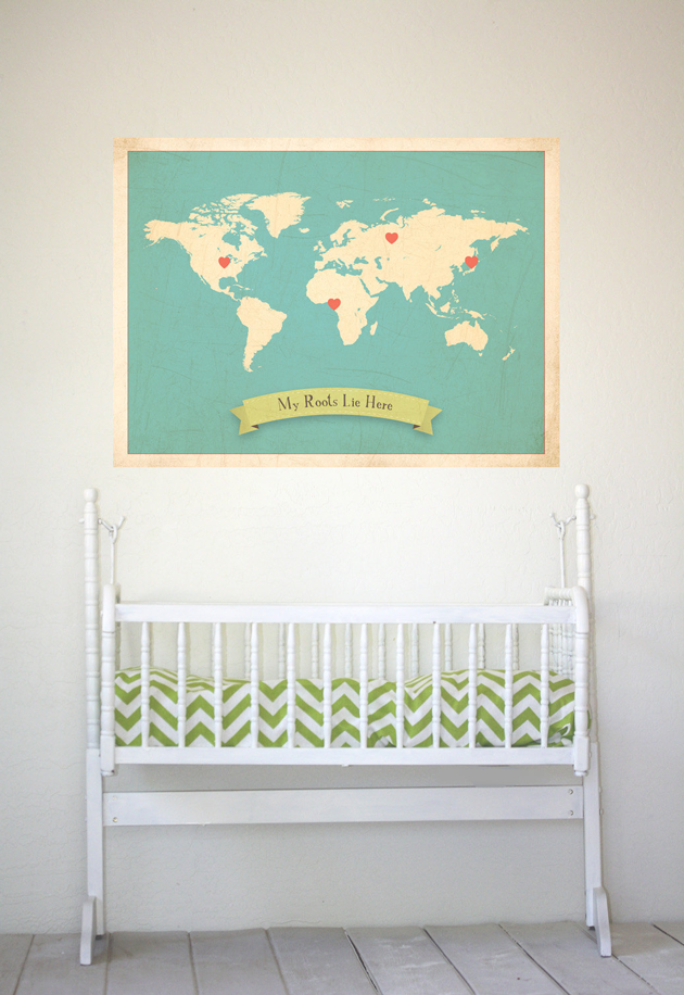 my roots lie here world map blue children inspire design