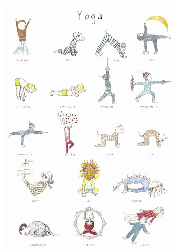 Kids Yoga Poster For The Playroom Room To Bloom