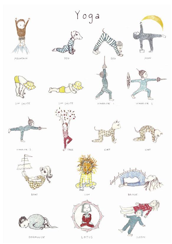 kids yoga poster karin ekland