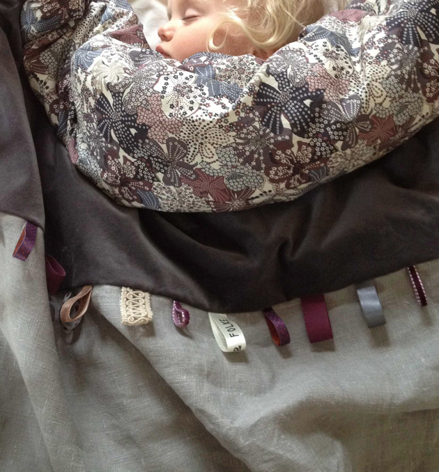 sture & folk baby blanket orpine