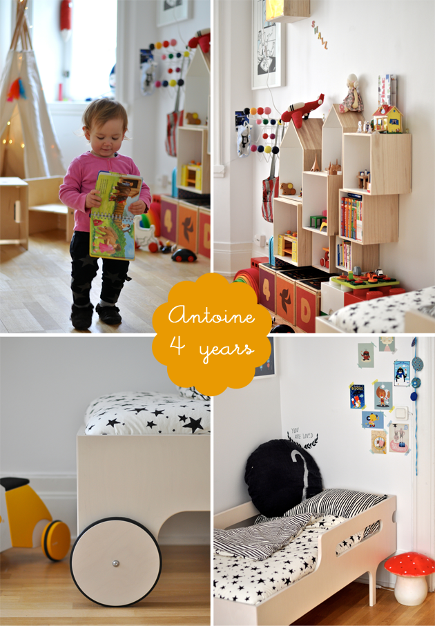 bright & colourful shared kids bedroom antoine and leonor