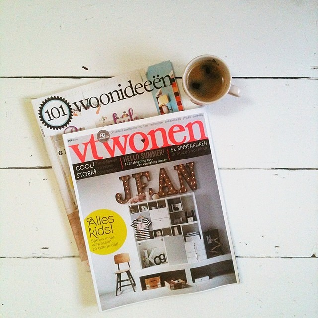 Time for a break with my favourite Dutch interiors magazines @101woonideeen and @vtwonen #thankyoumum