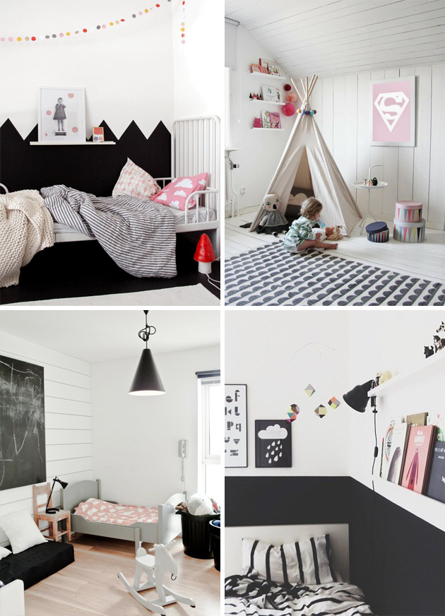 Black And White Childrens Bedroom Ideas