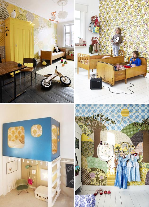 vintage wallpaper in kids rooms | Room to Bloom