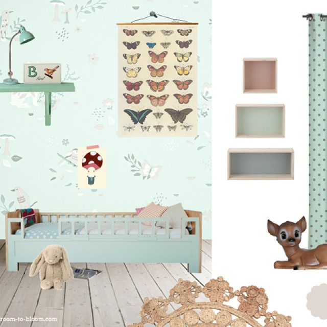 Another inspiration board for @HibouHome children's wallpaper. Details on my blog! #kidswallpaper #kidsinteriordesign