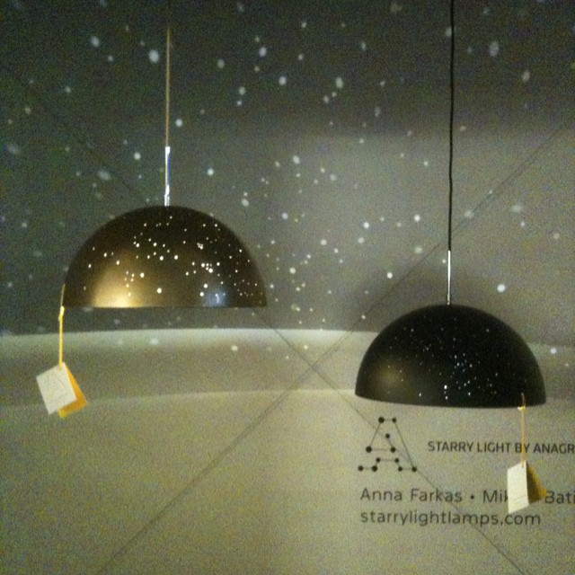 Starry lights by Anagraphic at #designjunction