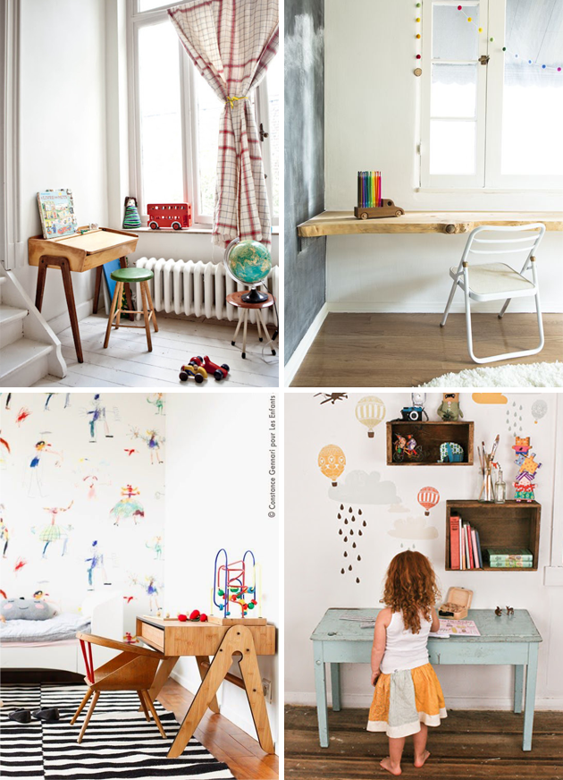 kids desks interiors
