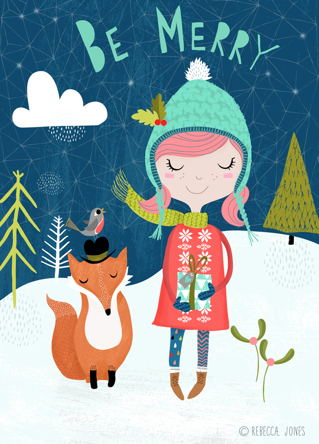 Rebecca Jones illustration Be Merry