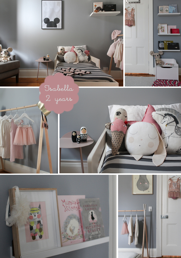 grey and pink toddler girls bedroom catherinegrace