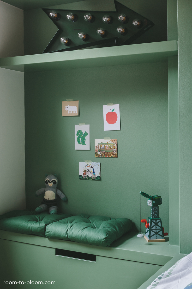 childrens interior design built-in storage kids room