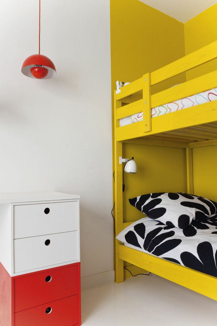 kids room with bunk bed and clip lights milk magazine louise desrosiers