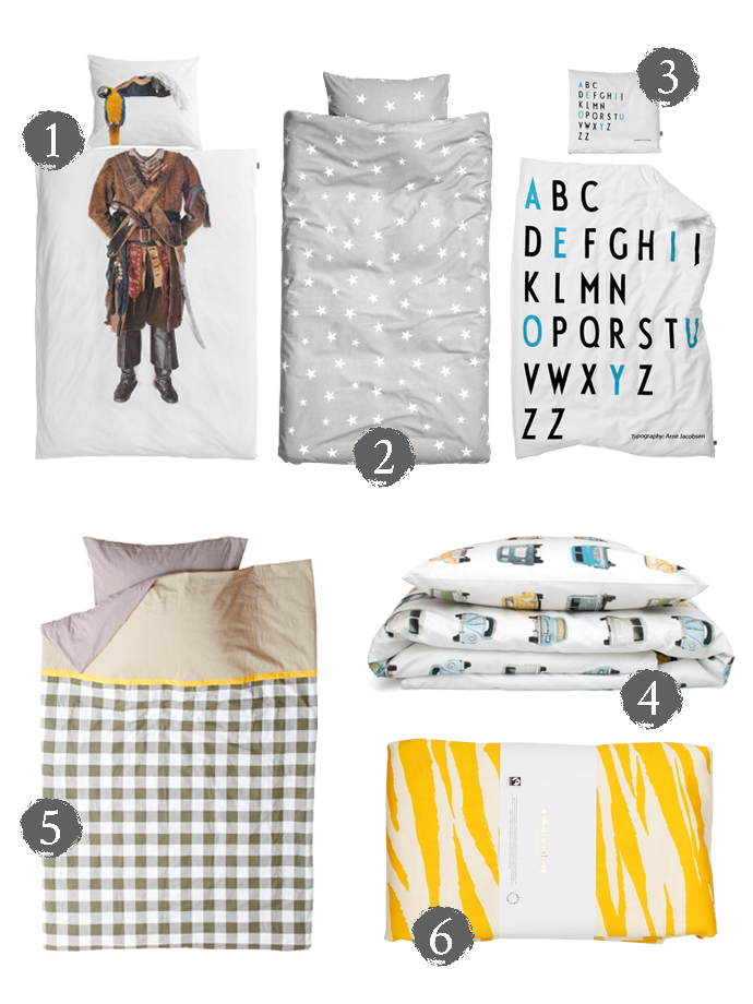 boys bedlinen and  bedding for Mr Fox magazine