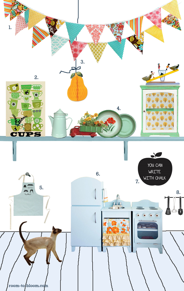 Nursery kids room interior design blog childrens for Play kitchen designs