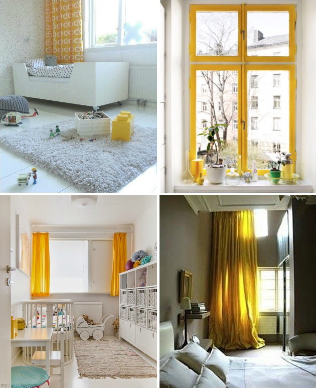 yellow curtain and window inspiration kids rooms