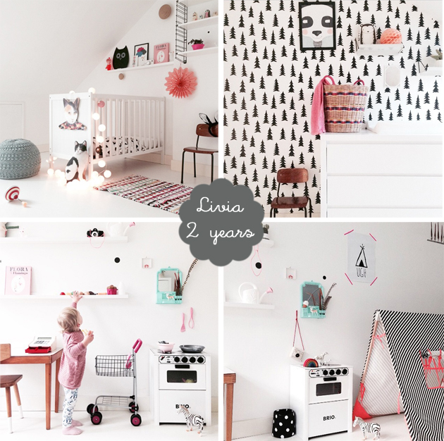 monochrome kids room girl livia