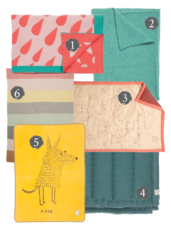 blankets & throws for kids rooms Mr Fox magazine